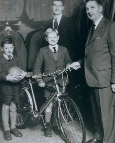 dad and grandpa shop picture